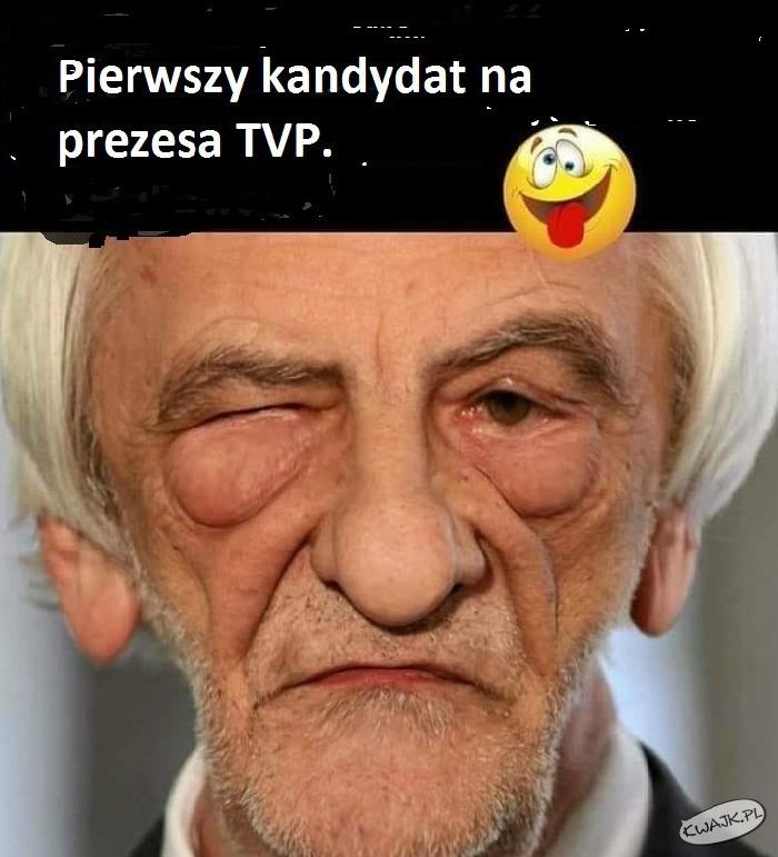 Pierwszy kandydat na prezesa TVP :P