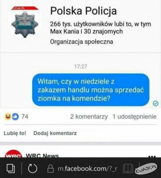 Co odpowiedziała Policja?