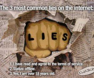 3 największe kłamstwa w Internecie