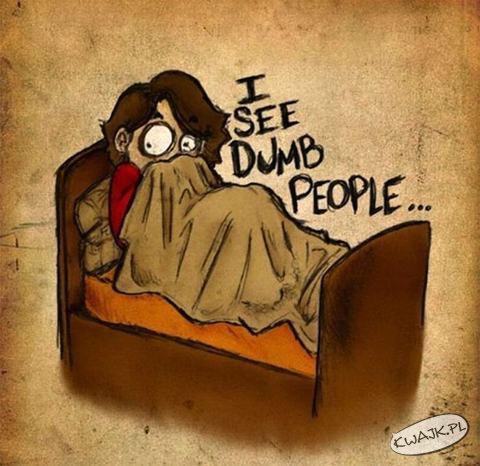 Widzę głupich ludzi...