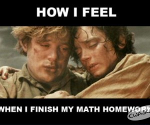 Po skończonej pracy domowej z matmy