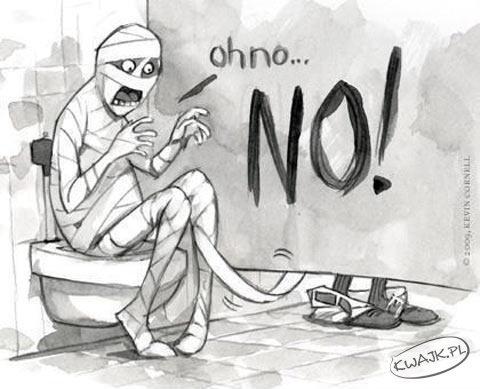 Łazienkowe problemy mumii