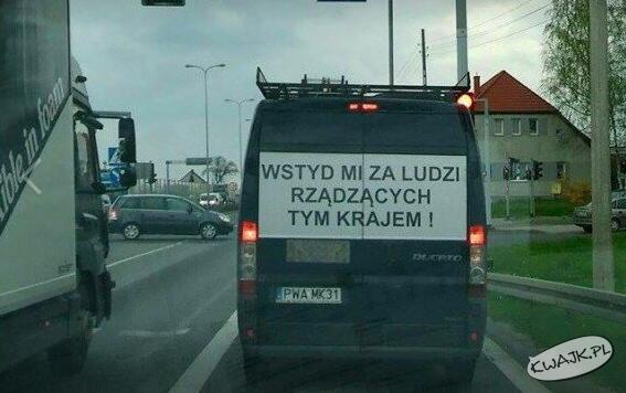 Celny przekaz na jednej z polskich ulic