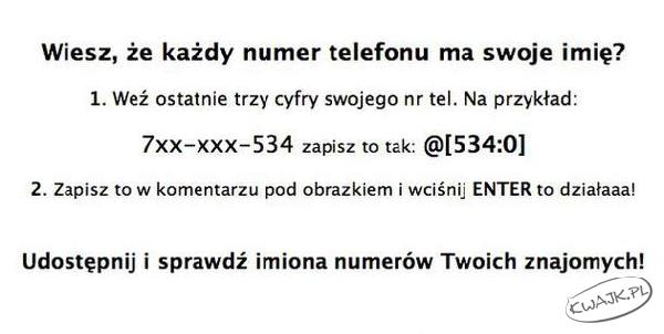 Imię telefonu