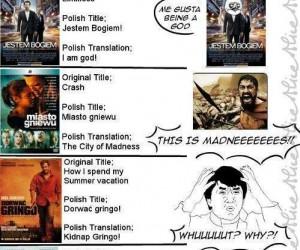 Polskie tytuły filmów