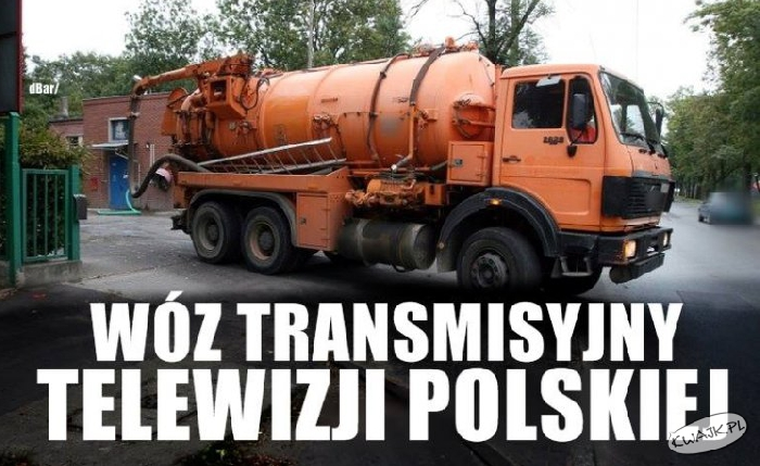 Wóz transmisyjny Telewizji Polskiej