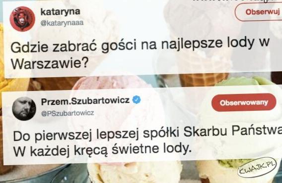 Gdzie zabrać gości na najlepsze lody w Warszawie?