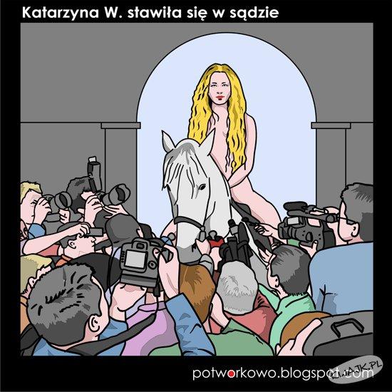 Katarzyna W. stawiła się w sądzie