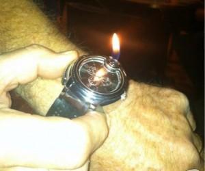 Zegarek z zapalniczką