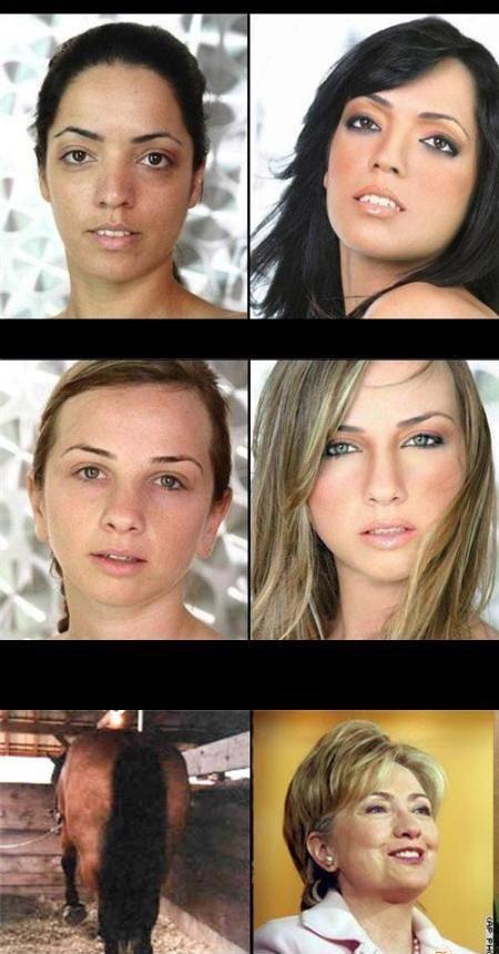 Kobiety z i bez makijażu