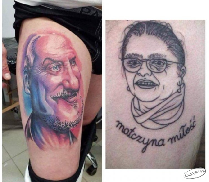 Tatuaże z dystansem